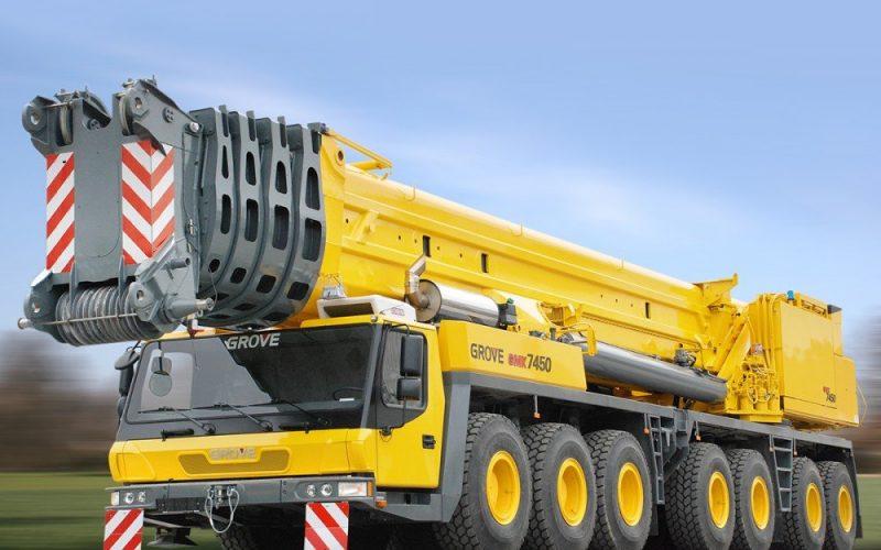Location de grues 450 tonnes